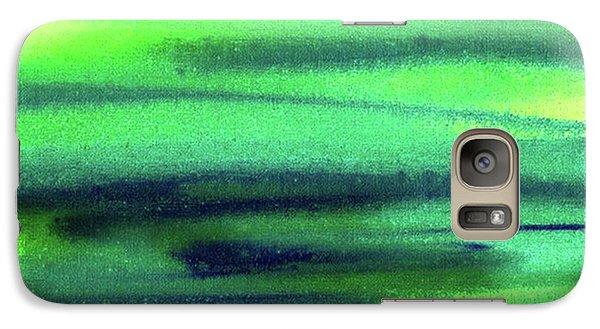 Galaxy S7 Case - Emerald Flow Abstract Painting by Irina Sztukowski