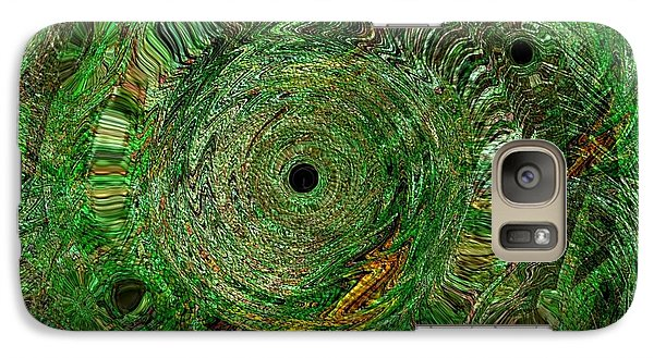 Galaxy Case featuring the photograph Emerald Swirls by Kathie Chicoine