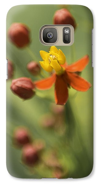 Emergence - Asclepias Curassavica - Butterfly Milkweed - South Carolina Botanical Gardens Galaxy S7 Case by Johan Hakansson