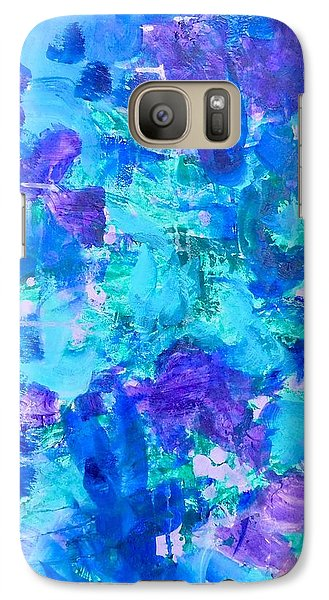 Galaxy Case featuring the painting Emergence by Irene Hurdle