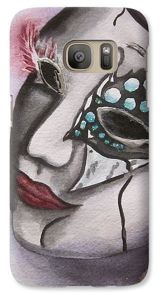 Galaxy Case featuring the painting Emerging Frenzy by Teresa Beyer