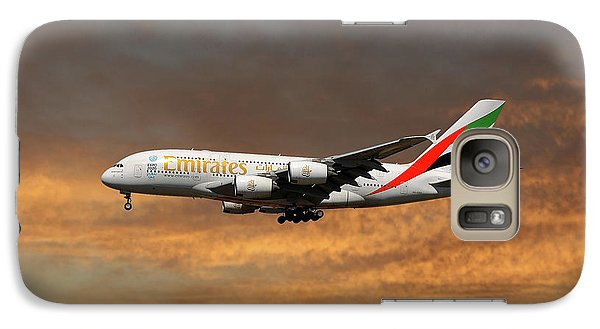 Jet Galaxy S7 Case - Emirates Airbus A380-861 3 by Smart Aviation