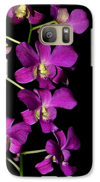 Galaxy Case featuring the photograph Emma Queen Orchid 001 by George Bostian