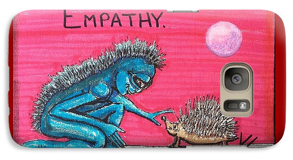 Galaxy Case featuring the painting Empathetic Alien by Similar Alien