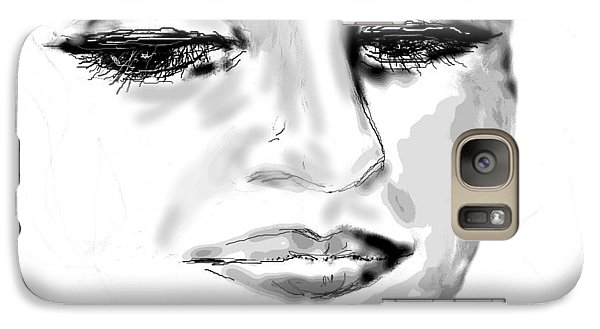 Galaxy Case featuring the drawing Empathy by Desline Vitto