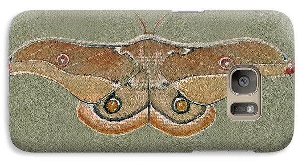 Hawk Galaxy S7 Case - Emperor Gum Moth by Juan Bosco