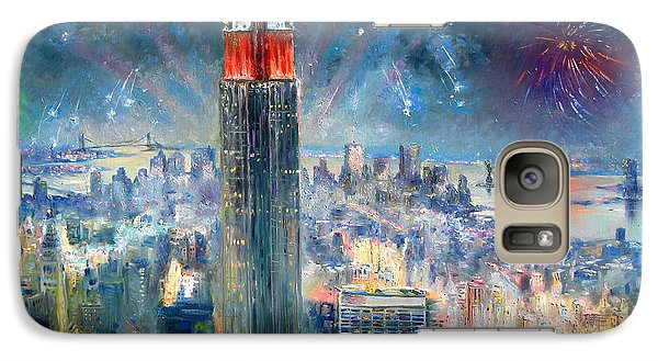 Statue Of Liberty Galaxy S7 Case - Empire State Building In 4th Of July by Ylli Haruni