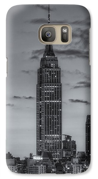 Empire State Building Galaxy S7 Case - Empire State Building Morning Twilight Iv by Clarence Holmes