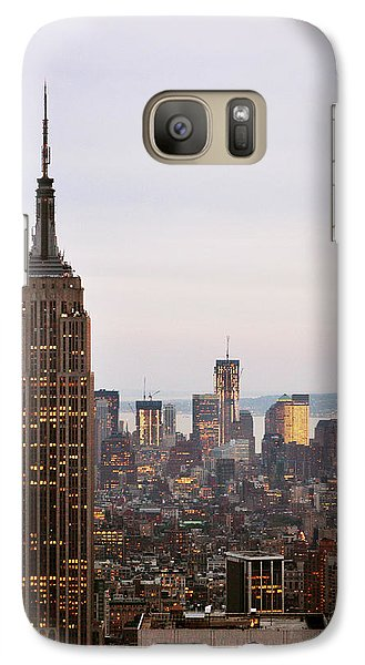 Galaxy Case featuring the photograph Empire State Building No.2 by Zawhaus Photography