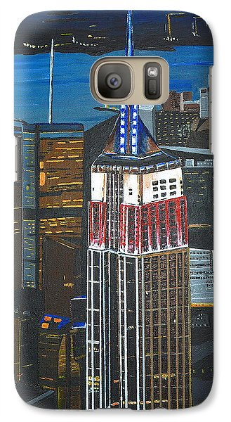 Galaxy Case featuring the painting Empire State by Donna Blossom