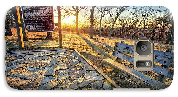 Galaxy Case featuring the photograph Empty Park Bench - Sunset At Lapham Peak by Jennifer Rondinelli Reilly - Fine Art Photography