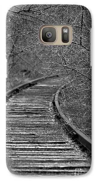 Galaxy Case featuring the photograph Empty Tracks by Juls Adams