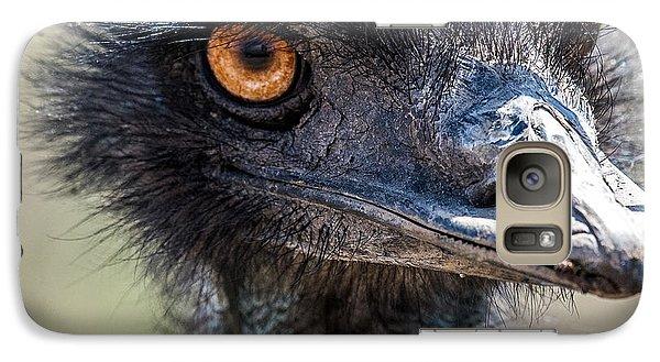 Emu Eyes Galaxy Case by Paul Freidlund