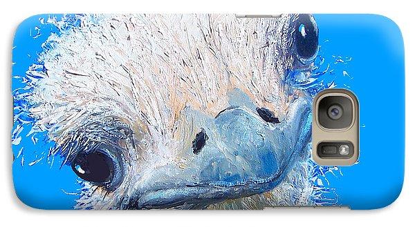 Emu Painting Galaxy S7 Case by Jan Matson