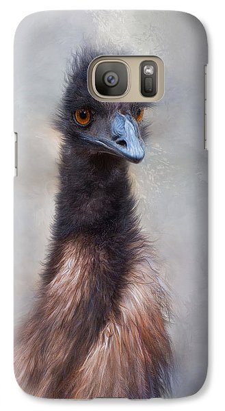 Galaxy Case featuring the photograph Emu by Robin-Lee Vieira