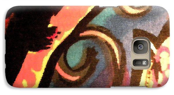 Galaxy Case featuring the mixed media En Joy Ll by Sandi OReilly