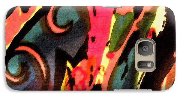 Galaxy Case featuring the mixed media En Joy by Sandi OReilly