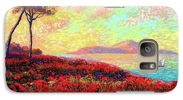 Peach Galaxy S7 Case - Enchanted By Poppies by Jane Small