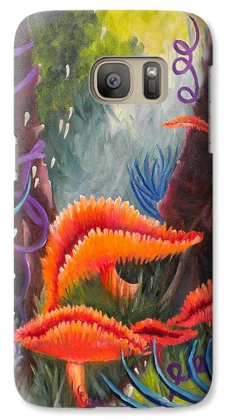 Galaxy Case featuring the painting Enchanted Forest by Renate Nadi Wesley