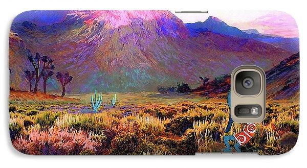 Magician Galaxy S7 Case - Enchanted Kokopelli Dawn by Jane Small