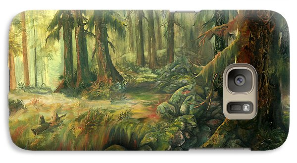 Galaxy Case featuring the painting Enchanted Rain Forest by Sherry Shipley