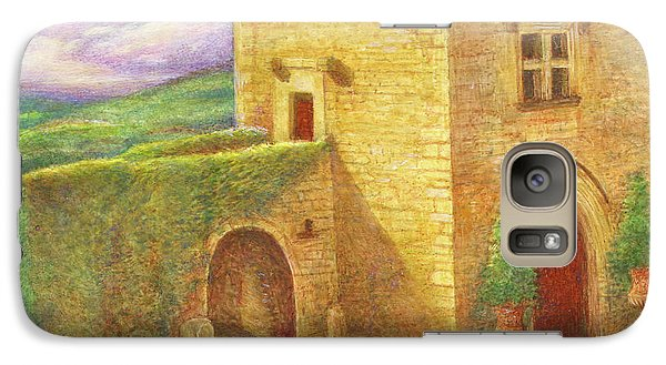 Galaxy Case featuring the painting Enchanting Fairytale Chateau Landscape by Judith Cheng
