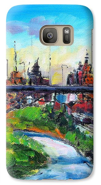 Galaxy Case featuring the painting Encroaching Parkland by Les Leffingwell