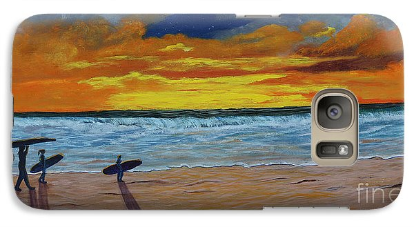 Galaxy Case featuring the painting End Of Day by Myrna Walsh