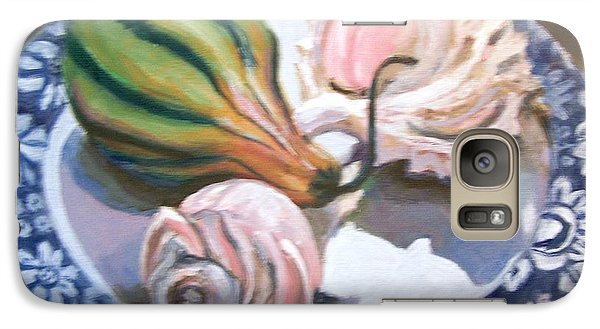 Galaxy Case featuring the painting End Of Summer by Laura Aceto