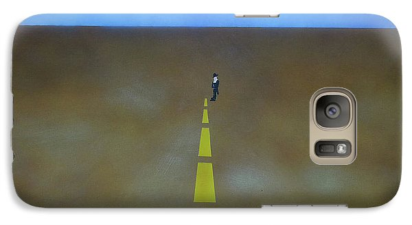 Galaxy Case featuring the painting End Of The Line by Thomas Blood