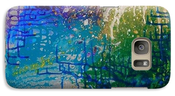 Galaxy Case featuring the painting Endless Possibilite by Lori Jacobus-Crawford