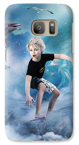 Galaxy Case featuring the digital art Endless Wave by Shanina Conway
