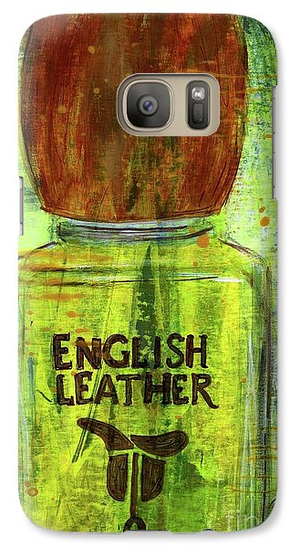 Galaxy Case featuring the painting English Leather by P J Lewis