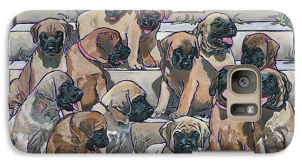 Galaxy Case featuring the painting English Mastiff Puppies by Nadi Spencer