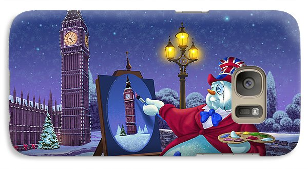 English Snowman Galaxy S7 Case by Michael Humphries