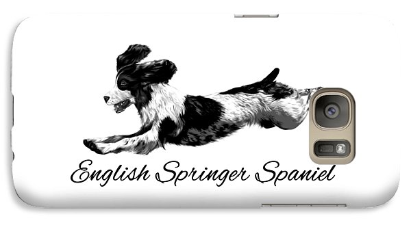 Galaxy Case featuring the digital art English Springer Spaniel by Ann Lauwers