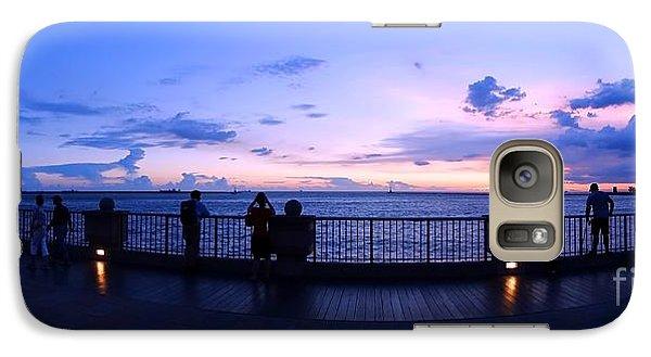 Galaxy Case featuring the photograph Enjoying The Beautiful Evening Sky by Yali Shi