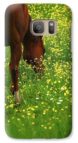Galaxy Case featuring the photograph Enjoying The Wildflowers by Karol Livote