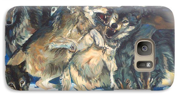 Galaxy Case featuring the painting Enjoying Their Prey by Koro Arandia