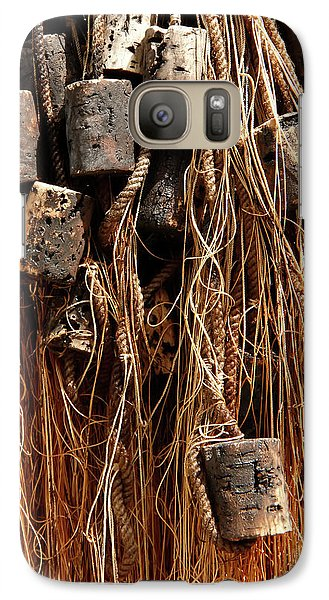 Galaxy Case featuring the photograph Enkhuizen Fishing Nets by KG Thienemann