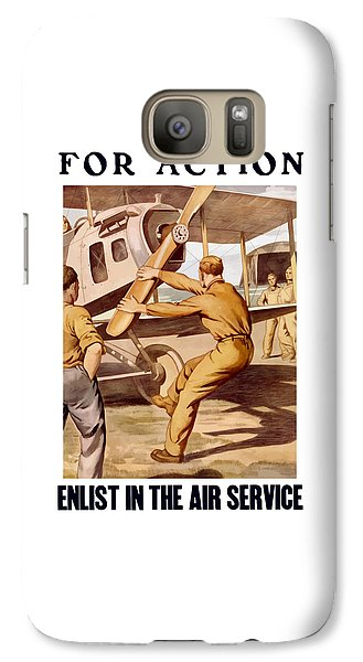 Enlist In The Air Service Galaxy S7 Case by War Is Hell Store