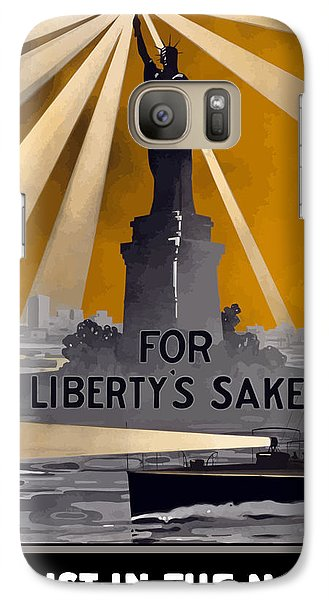 Enlist In The Navy - For Liberty's Sake Galaxy S7 Case by War Is Hell Store