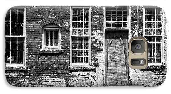 Galaxy Case featuring the photograph Enough Windows - Bw by Christopher Holmes