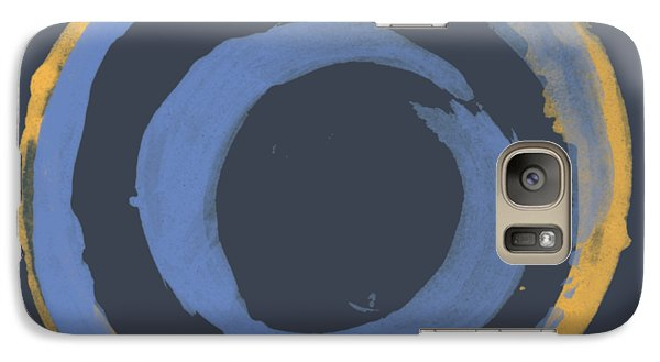 Galaxy Case featuring the painting Enso T Blue Orange by Julie Niemela