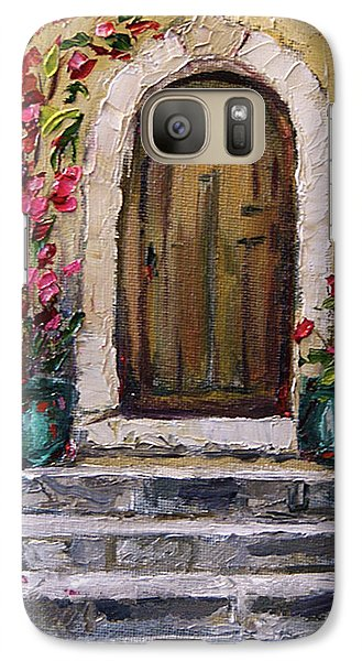 Galaxy Case featuring the painting Enter Here by Jennifer Beaudet