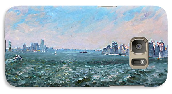 Statue Of Liberty Galaxy S7 Case - Entering In New York Harbor by Ylli Haruni