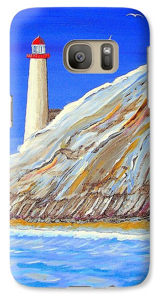 Galaxy Case featuring the painting Entering The Harbor by J R Seymour