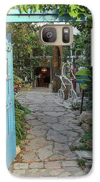 Galaxy Case featuring the photograph Entrance Door To The Artist by Yoel Koskas