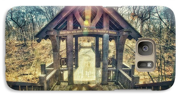 Galaxy Case featuring the photograph Entrance To 7 Bridges - Grant Park - South Milwaukee  by Jennifer Rondinelli Reilly - Fine Art Photography