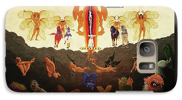 Galaxy Case featuring the painting Epic - In The Valley Of Megiddo by Rand Swift